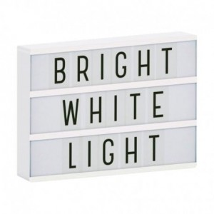 Lampka,  lampa Lightbox LED A4 White
